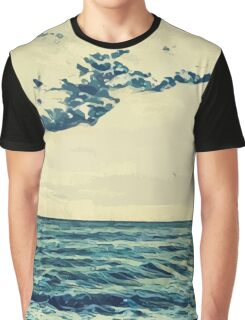 Landscape of the seaside in Cannes Graphic T-Shirt