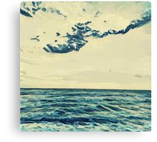 Landscape of the seaside in Cannes Canvas Print