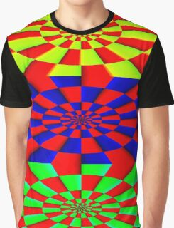 """ABSTRACT 3D"" Psychedelic Fun Print Graphic T-Shirt"
