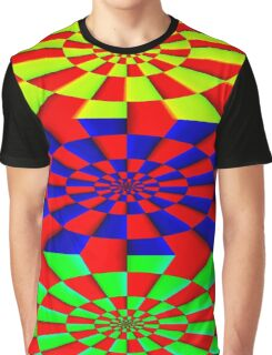 """""""ABSTRACT 3D"""" Psychedelic Fun Print Graphic T-Shirt"""