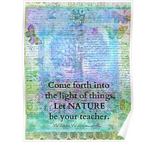 Nature Tree Quote Wordsworth Poster