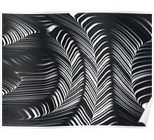 Black White Geometric Curves Fine Fractal Art Poster