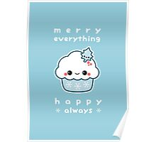 Merry Everything Cupcake Poster