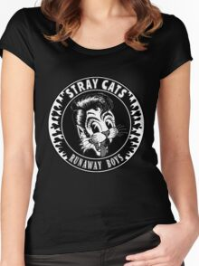Stray Cats  (Runaway Boys) Women's Fitted Scoop T-Shirt