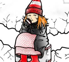 Amelia Pond And The Crack In The Wall Sticker