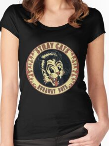 Stray Cats  (Runaway Boys) Vintage Women's Fitted Scoop T-Shirt