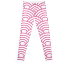 Art deco,pink,white,elegant,chic,vintage,1920's,shell,trendy,modern Leggings