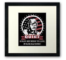 QUINT 2016 JAWS SHARKIN Framed Print