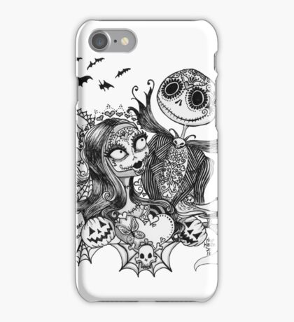 Day of the Dead Jack and Sally iPhone Case/Skin