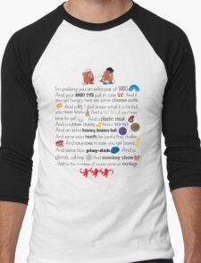 Mr. and Mrs. Potato Head Men's Baseball ¾ T-Shirt