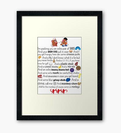 Mr. and Mrs. Potato Head Framed Print