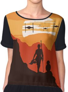 Star Wars VII - BB8 & Rey 2 Chiffon Top