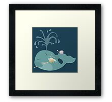 We are Whales - Washing Framed Print