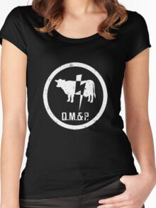 Q.M.&P. PREACHER QUINCANNON MEAT AND POWER Women's Fitted Scoop T-Shirt