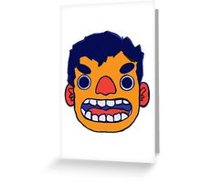 RBY ANGRY FACE Greeting Card