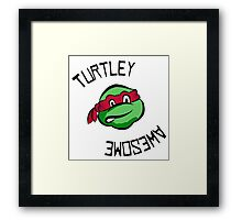Turtley Awesome TMNT Cartoon Style Raph Framed Print