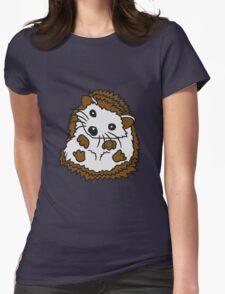 stacheln baby comic cartoon süßer kleiner niedlicher igel  Womens Fitted T-Shirt