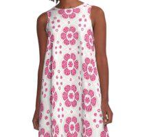 Sweety Pink Floral Pattern A-Line Dress