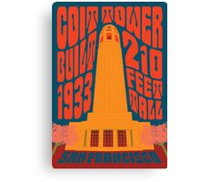 1960's Psychedelic San Francisco Coit Tower Canvas Print