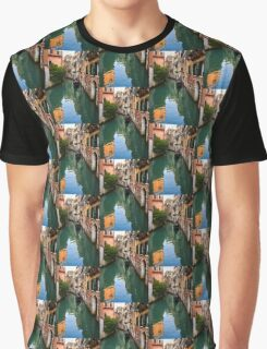 Impressions of Venice - Green Reflections and a Gondola Graphic T-Shirt