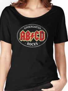 Vintage Kindergarten Rocks - dark Women's Relaxed Fit T-Shirt