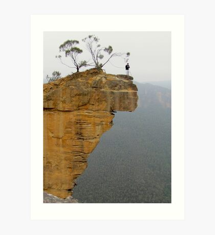 Steve at Hanging Rock Art Print