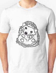 sitzend rund kind baby nachwuchs süßer kleiner niedlicher igel  Unisex T-Shirt