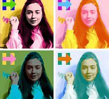 Hippie Hillary by Laura Carl