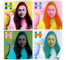 Hippie Hillary Poster