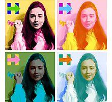 Hippie Hillary Photographic Print