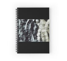 Spines Abstract Black White Tones Spiral Notebook