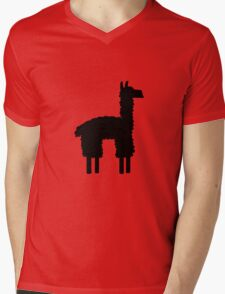 Llama-rama Mens V-Neck T-Shirt