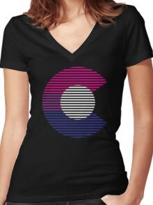 colorado biC Women's Fitted V-Neck T-Shirt