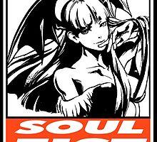 Morrigan Soul Fist Obey Design by SquallAndSeifer