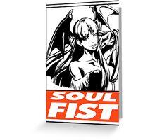 Morrigan Soul Fist Obey Design Greeting Card