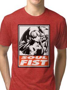 Morrigan Soul Fist Obey Design Tri-blend T-Shirt