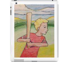 Boy Playing Baseball iPad Case/Skin