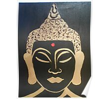 Brown Buddha Poster