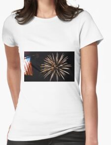 Red, White  & Blue Womens Fitted T-Shirt