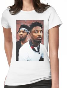 21Savage & Metro Boomin Womens Fitted T-Shirt