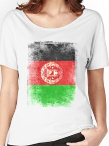 Afghanistan Flag Proud Afghan Vintage Distressed  Women's Relaxed Fit T-Shirt