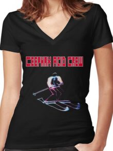 Ceephax Acid Crew Alpine Women's Fitted V-Neck T-Shirt