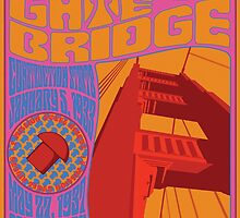 1960's Psychedelic San Francisco Golden Gate Bridge by Groovy-Frisco