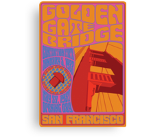1960's Psychedelic San Francisco Golden Gate Bridge Canvas Print