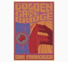 1960's Psychedelic San Francisco Golden Gate Bridge T-Shirt