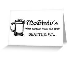 McGinty's – Frasier, Marty Crane Greeting Card