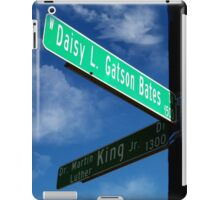 Martin LutherKing/Daisy Gatson Bates Historic Sign iPad Case/Skin