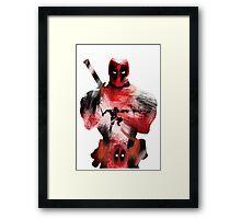 Deadpool Silhouette Framed Print