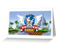 Sonic The Hedgehog 25th Anniversary Greeting Card