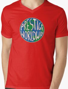 Vintage Prestige Worldwide Mens V-Neck T-Shirt